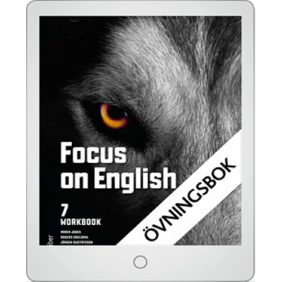Focus on English 7 Workbook Digital övningsbok.